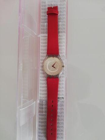 Relógio Swatch skin vermelho