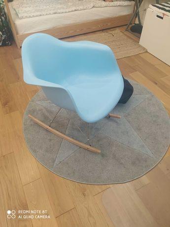 Krzesło fotel bujany skandynawski