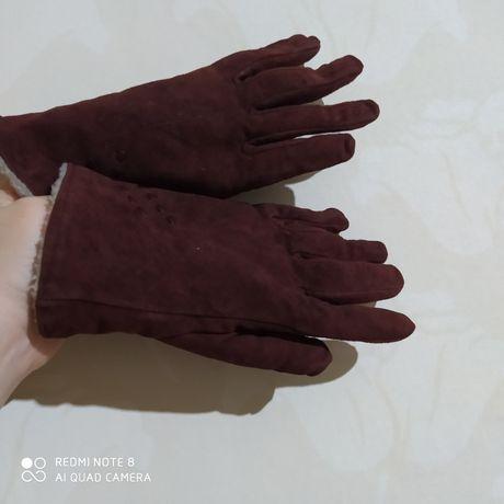 Продам перчатки из натуральной замши
