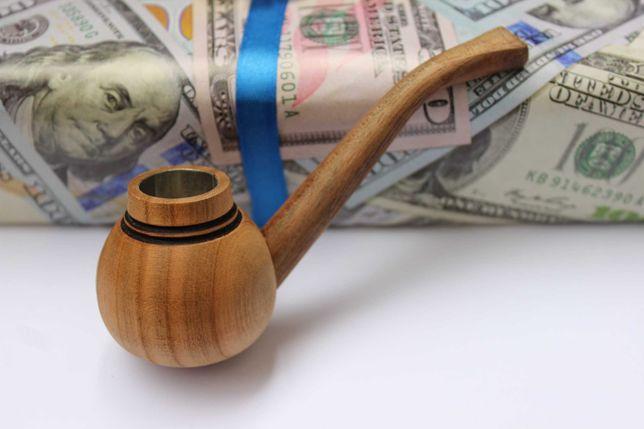 Классическая трубка для курения.Памятный подарок для курящего мужчины