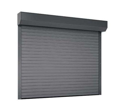 Brama garażowa Rolowana Roletowa przemysłowa ocieplona 200x180 Bramy