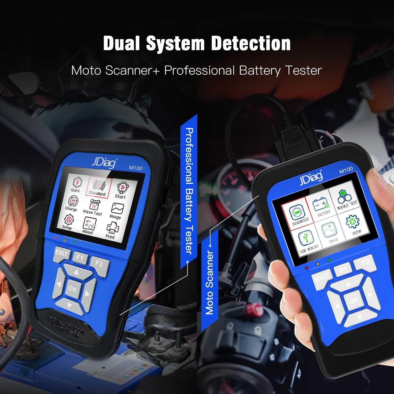 Máq. Diagnostico Motociclos Jdiag-scanner universal ( Nova ) sem cabos