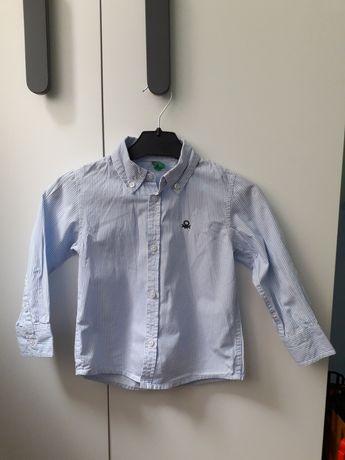 Koszula chłopiec benetton w paski  86