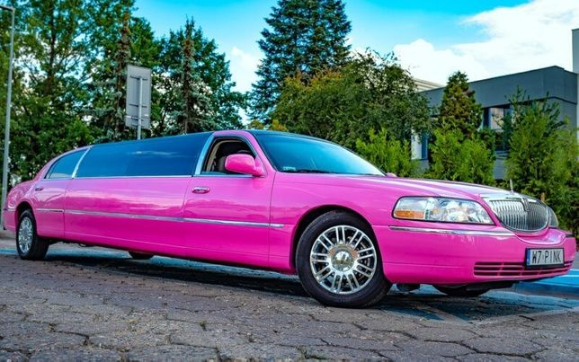 Imprezowa różowa Limuzyna do wynajęcia Jedyna w Polsce Wynajem limuzyn