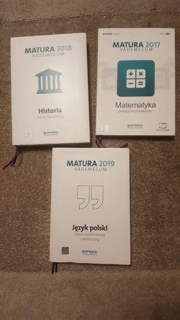 matura vademecum j.polski, matematyka, historia