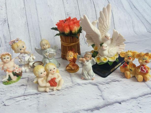 Статуэтки (ангел, голуби, дети). Комплект.