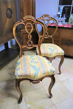 Krzesła neorokoko, antyk