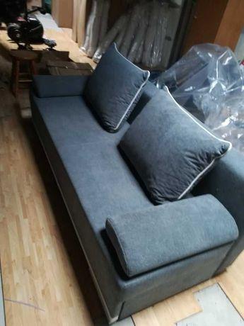Łóżko kanapa rozkładana szara