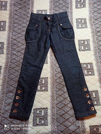 Теплые джинсы на девочку