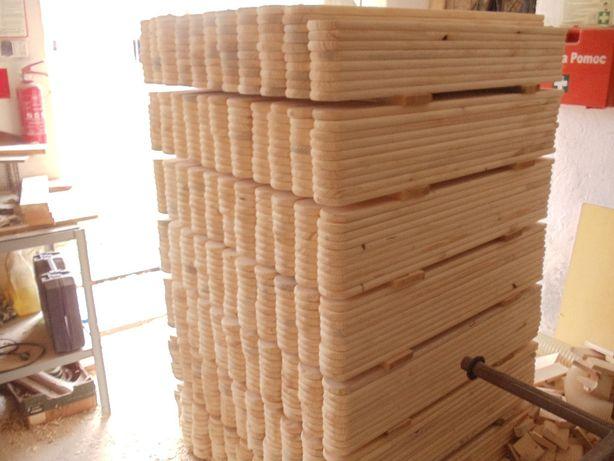 Sztachety drewniane świerkowe szer9cm 1m płoty balkony tarasy OD RĘKI