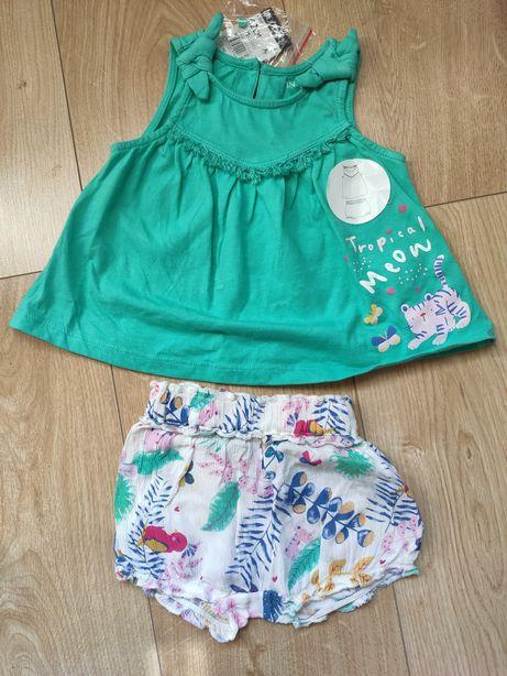 Ubranko na lato dla dziewczynki spodenki bluzeczka 62