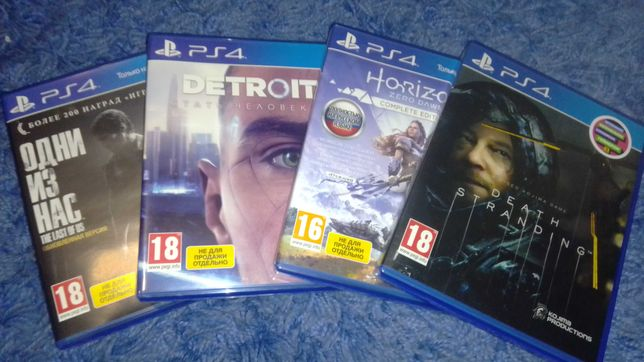 Игры ps4, death stranding, horizon...