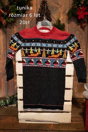 Swiateczna tunika sweter 6 lat