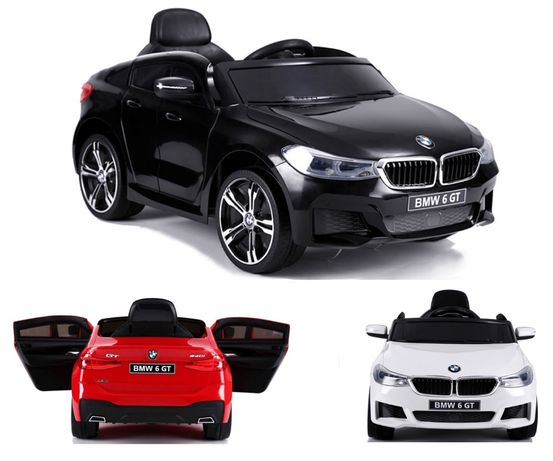 AUTO NA AKUMULATOR BMW 6GT Pilot 2.4G Licencja, Miękkie koła Ekoskóra