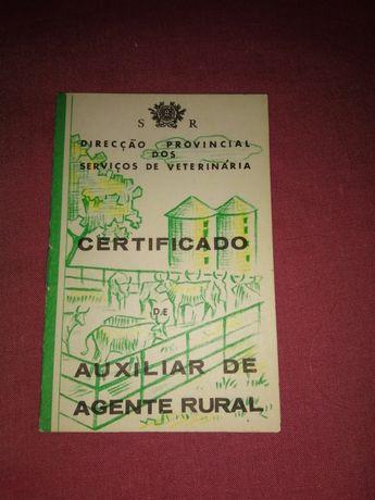 Certificados de auxiliar de agente rural