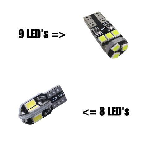 Lâmpadas de LED'S CanBus T5 / T10 / BA9S / Tubular