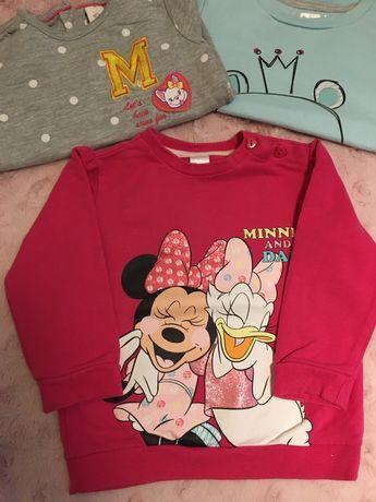 Bluza, myszka Minnie , zestaw  3 sztuki c&a 86,
