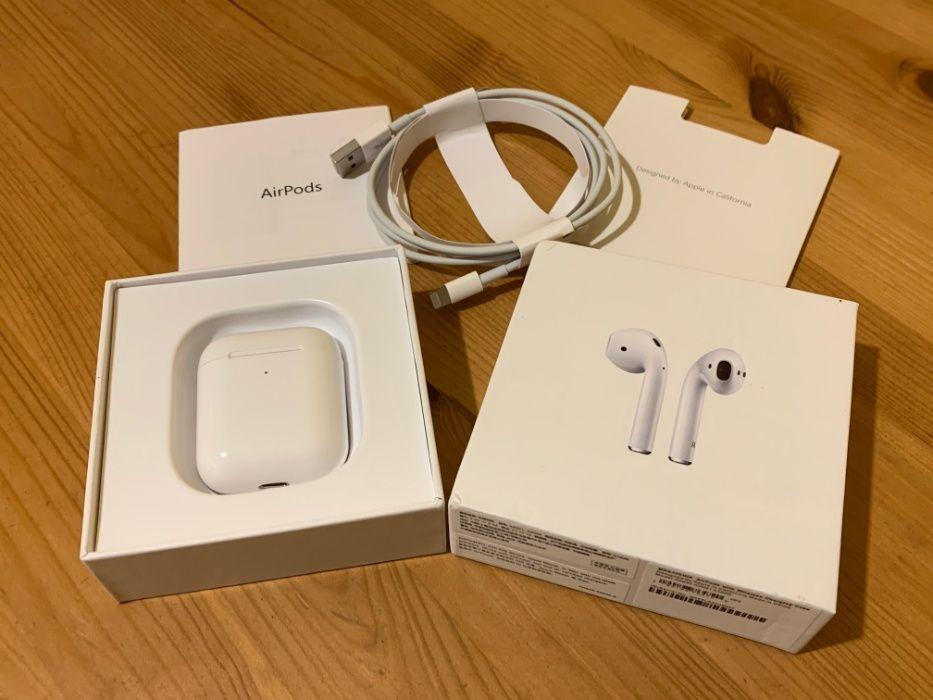 Oryginalne słuchawki Apple airpods 2 z ładowaniem indukcyjnym Okazja Warszawa - image 1