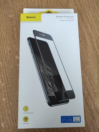 Захисне скло baseus iPhone 7 8 White Біле