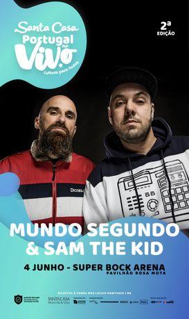 Bilhetes para Mundo segundo & Sam the Kid - Camarote para 4 pessoas