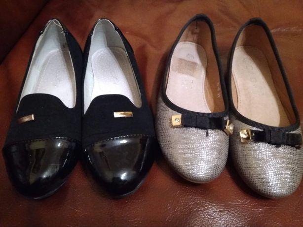 Baleriny,buty dziewczęce roz. 31 i roz. 32