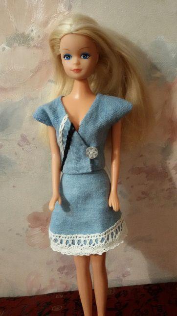 Костюмы для Барби джинсовые.