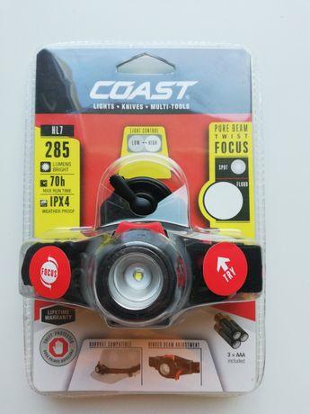 Latarka czołowa Coast HL7 285 lumenów nowa z USA