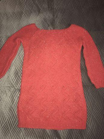 różowy sweter uniwersalny