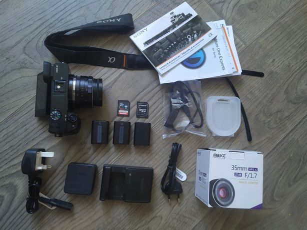 Фотоаппарат камера Sony a6000 + MEIKE F/1.7 35mm