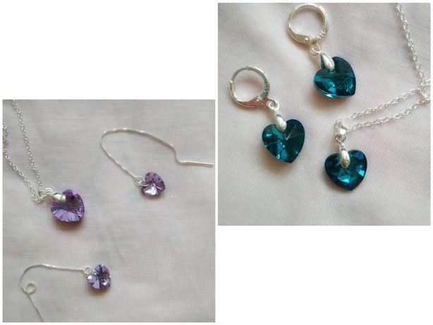 Zestaw biżuterii z kryształami s925