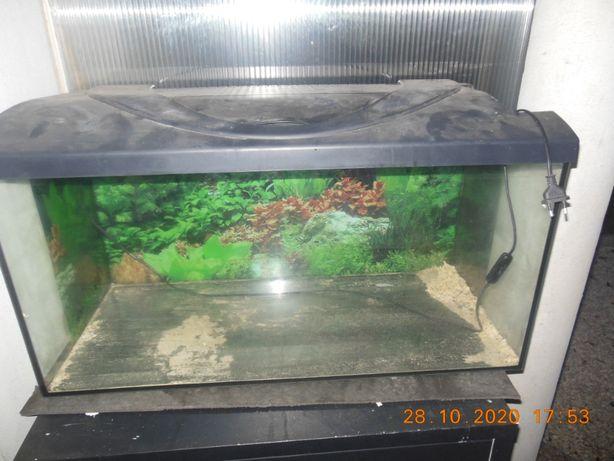 sprzedam akwarium z podświetlaną pokrywą