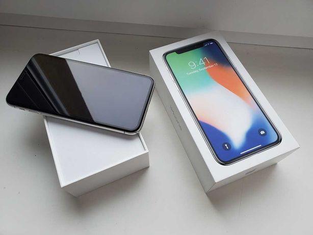"iphone X 64gb ""SILVER /Komplet+ Super DODATKI/Zamiana na inny telefon"