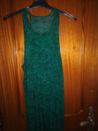 Vestido comprido verde floresta