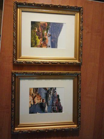Obraz w złotej ramie, solidna, ciężka, 2 w 1 Stylizowana rama okazja
