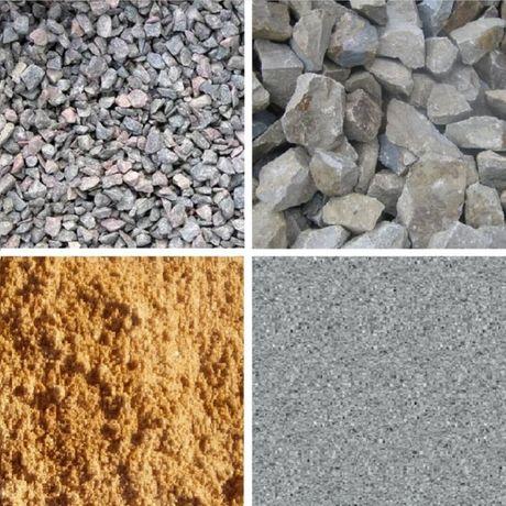 Песок, щебень, отсев с доставкою