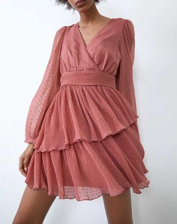 Vestido Rosa Zara *** NOVO C/ ETIQUETA *** XS