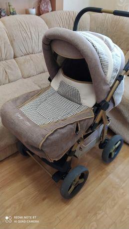 Детская коляска трансформер Adamex Young + переноска