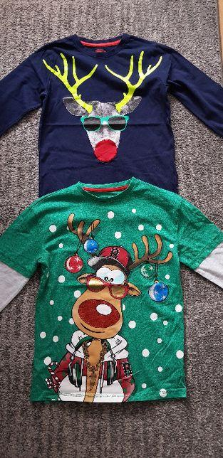 2 koszulki na Święta:) rozm.152/158