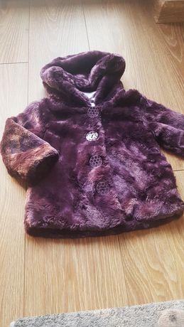 Płaszczyk kurtka futerko  dla dziewczynki George 12-18 month