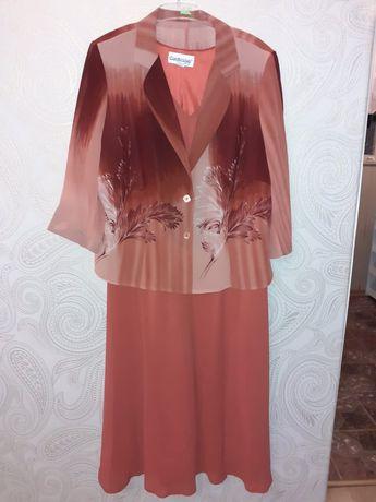 Suknia sukienka z bolerkiem 50 ceglasta
