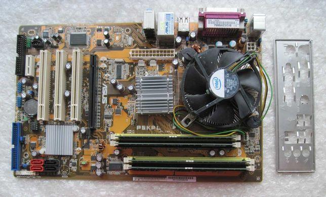 775 Asus P5KPL (G31) + 2 ядра по 3.2 Ghz/2m/800 + 4Gb DDR2