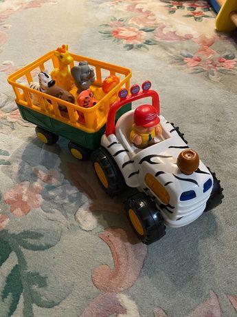детские игрушки. Трактор с тележкой от 12-36 месяцев