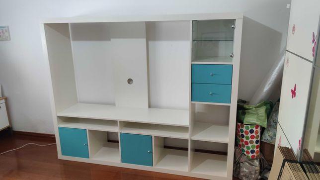 Móvel TV Branco Lappland IKEA para desocupar