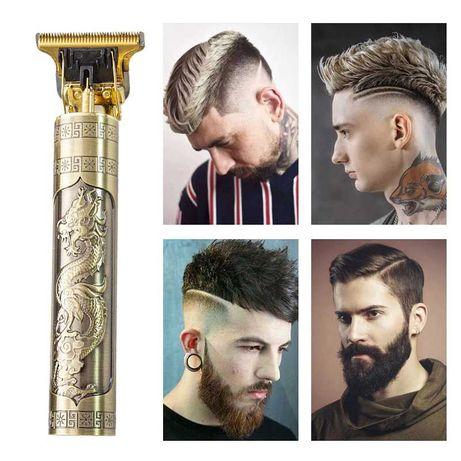 Maquina aparadora de cabelo e barba corte profissional homem