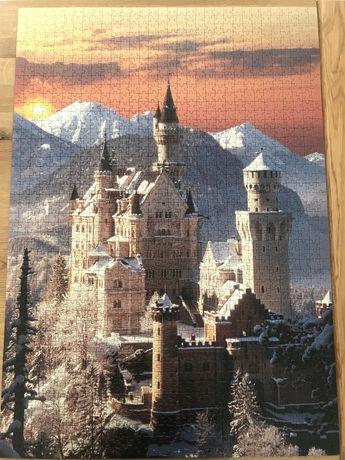 Zamek Neuschwanstein puzzle 1500 high quality