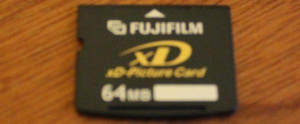 FugiFilm karta do aparatu xD-Picture Card 64mb