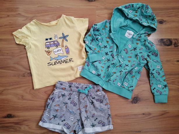 Летний набор sinsay 98 шорты, футболка, кофта