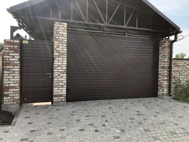 Ворота секционные гаражные автоматические, роспашные, откатные.