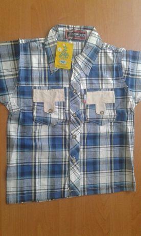 Рубашка на 4 года с коротким рукавом.