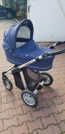 Wózek uniwersalny 2w1 Husky Baby Design (granatowy)